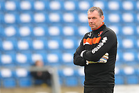Blackpool Goalkeeper Coach Dave Timmins during the pre-match warm-up <br /> <br /> Photographer Kevin Barnes/CameraSport<br /> <br /> The EFL Sky Bet League Two - Wycombe Wanderers v Blackpool - Saturday 11th March 2017 - Adams Park - Wycombe<br /> <br /> World Copyright &copy; 2017 CameraSport. All rights reserved. 43 Linden Ave. Countesthorpe. Leicester. England. LE8 5PG - Tel: +44 (0) 116 277 4147 - admin@camerasport.com - www.camerasport.com