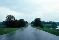 "Blenheim Palace:  Driveway from north of estate over an artificial lake by Lancelot ""Capability"" Brown. Photo '87."