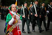 A woman takes part of the Annual Columbus day parade in New York, United States. 08/10/2012. Photo by Eduardo Munoz Alvarez / VIEWpress.