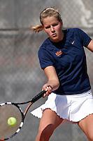 SAN ANTONIO, TX - FEBRUARY 1, 2008: The Middle Tennessee State University Blue Raiders vs. The University of Texas at San Antonio Roadrunners Women's Tennis at the UTSA Tennis Center. (Photo by Jeff Huehn)