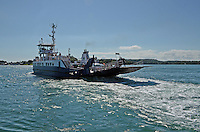 Strangford Ferry en route from Portaferry to Strangford. The ferry links the two towns at either side of Strangford Lough, Co Down, N Ireland, UK, 201208180547..Copyright Image from Victor Patterson, 54 Dorchester Park, Belfast, UK, BT9 6RJ..Tel: +44 28 9066 1296.Mob: +44 7802 353836.Voicemail +44 20 8816 7153.Skype: victorpattersonbelfast.Email: victorpatterson@me.com.Email: victorpatterson@ireland.com (back-up)..IMPORTANT: If you wish to use this image or any other of my images please go to www.victorpatterson.com and click on the Terms & Conditions. Then contact me by email or phone with the reference number(s) of the image(s) concerned.