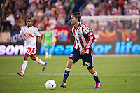 Blair Gavin (18) of CD Chivas USA. The New York Red Bulls and CD Chivas USA played to a 1-1 tie during a Major League Soccer (MLS) match at Red Bull Arena in Harrison, NJ, on May 23, 2012.