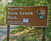 Sign at the entrance to Rock Creek Park in Chevy Chase, Maryland showing it is closed on Tuesday, October 1, 2013.  The National Park Service has closed all of its facilities due to Congress not passing a funding bill by midnight September 30.  The road, Rock Creek Parkway, which runs through the park, is a major thoroughfare for motor vehicles and bicycles between the Maryland suburbs and downtown Washington, D.C.<br /> Credit: Ron Sachs / CNP<br /> (RESTRICTION: NO New York or New Jersey Newspapers or newspapers within a 75 mile radius of New York City)