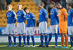 St Johnstone v St Mirren.....11.01.14   SPFL<br /> A minutes silence was held for Ian Redford<br /> Picture by Graeme Hart.<br /> Copyright Perthshire Picture Agency<br /> Tel: 01738 623350  Mobile: 07990 594431