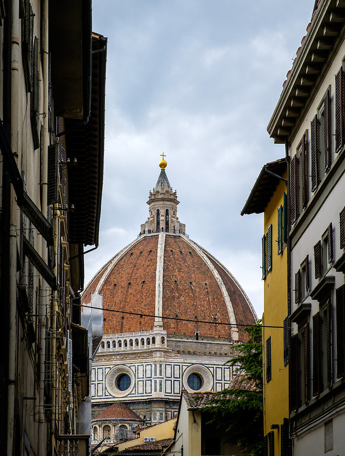 FLORENCE, ITALY - CIRCA MAY 2015: Duomo of Florence. Cathedral Santa Maria del Fiore as seen from the streets.