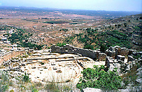 Libya   Cyrene.Archaeological site, Apollo sanctuary,  .City founded by the Greek 3rd century BC.The Theatre.UNESCO World Heritage Site......