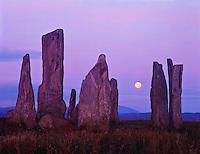 The Callinish Stones, Isle of Lewis, Scotland, United Kingdom  Ancient Megalithic stone alignment