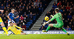 Zander Clark saves from Martyn Waghorn