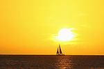 Sailing at Sunset. Martinique South Coast.8-bit RGB layered PSD w/max. compatibility  file, 3504x2336 pixels AMBIANCES MARINES-LUMIERES MARINES-MARINE ATMOSPHERE