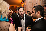 Actor Paul Rudd, center, and actor Aziz Ansari, right, attend the Bloomberg Vanity Fair White House Correspondents' Association dinner afterparty at the residence of the French Ambassador on Saturday, April 28, 2012 in Washington, DC. Brendan Hoffman for the New York Times