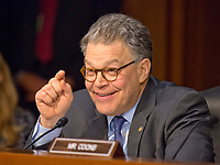 United States Senator Al Franken (Democrat of Minnesota) questions Judge Neil Gorsuch as he testifies before the US Senate Judiciary Committee on his nomination as Associate Justice of the US Supreme Court to replace the late Justice Antonin Scalia on Capitol Hill in Washington, DC on Tuesday, March 21, 2017.<br /> Credit: Ron Sachs / CNP /MediaPunch