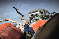 Mogadishu/Somalia 2012 - Woman in Badbadoo, the largest IDP camp in the capital.