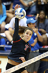 11 September 2015: Stanford's Ivana Vanjak (GER). The Duke University Devils hosted the Stanford University Cardinal at Cameron Indoor Stadium in Durham, NC in a 2015 NCAA Division I Women's Volleyball contest. Stanford won the match 3-2 (17-25, 25-22, 17-25, 25-23, 10-15).