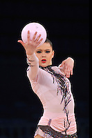 "ALINA MAKSYMENKO  of Ukraine performs at 2011 World Cup Kiev, ""Deriugina Cup"" in Kiev, Ukraine on May 06, 2011."