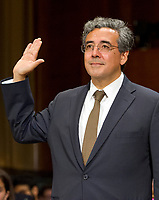 Noel J. Francisco is sworn-in to testify before the United States Senate Committee on the Judiciary on his nomination to be Solicitor General of the US on Capitol Hill in Washington, DC on Wednesday, May 10, 2017.<br /> Credit: Ron Sachs / CNP /MediaPunch