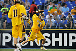 29 MAY 2011:  Ryan Clarke (4) of Salisbury University celebrates a goal against Tufts University during the Division III Men's Lacrosse Championship held at M+T Bank Stadium in Baltimore, MD.  Salisbury defeated Tufts 19-7 for the national title. Larry French/NCAA Photos