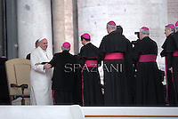Pope Francis during his weekly general audience in St. Peter square at the Vatican, Wednesday. Febraury 5, 2014