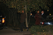 Chicago, IL - November 22, 2008 -- United States President-Elect Barack Obama and his wife Michelle leave a home in the Hyde Park neighborhood of Chicago Saturday evening, November 22, 2008..Credit: Anne Ryan - Pool via CNP