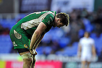 Elliott Stooke of London Irish looks dejected after the match. Aviva Premiership match, between London Irish and Exeter Chiefs on February 21, 2016 at the Madejski Stadium in Reading, England. Photo by: Patrick Khachfe / JMP