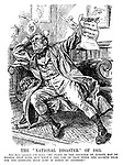 """The """"National Disaster"""" of 1912. John Bull (prostrate with shame). """"My place in the councils of Europe may be higher than ever, but what's the use of that when the Olympic Palm for the kneeling high jump is borne by another?"""""""