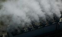 aerial photography turbines, steam, Chevron Richmond Refinery, Richmond, California