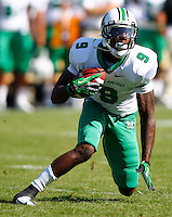 WEST LAFAYETTE, IN - SEPTEMBER 29: Antavious Wilson #9 of the Marshall Thundering Herd runs the ball after a reception against the Purdue Boilermakers at Ross-Ade Stadium on September 29, 2012 in West Lafayette, Indiana. (Photo by Michael Hickey/Getty Images) *** Local Caption *** Antavious Wilson