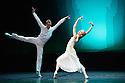 Edinburgh, UK. 29.08.2012. Mariinsky Ballet presents CINDERELLA as part of the Edinburgh International Festival. Picture shows: Igor Kolb (Prince) and Diana Vishneva (Cinderella). Photo credit: Jane Hobson.