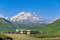 North and South peaks of Denali, (Mt. McKinley) north America's highest mountain, viewed from stony Dome, Denali National Park, Alaska