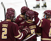 Scott Savage (BC - 2), Matthew Gaudreau (BC - 21), Colin White (BC - 18), Casey Fitzgerald (BC - 5), Ryan Fitzgerald (BC - 19) - The Harvard University Crimson defeated the visiting Boston College Eagles 5-2 on Friday, November 18, 2016, at Bright-Landry Hockey Center in Boston, Massachusetts.{headline] - The Harvard University Crimson defeated the visiting Boston College Eagles 5-2 on Friday, November 18, 2016, at Bright-Landry Hockey Center in Boston, Massachusetts.
