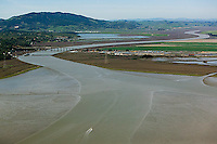aerial photograph mouth of Petaluma River, Sonoma County, California