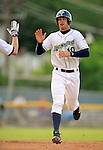 19 June 2008: Vermont Lake Monsters outfielder Stepthen Englund in action against the Oneonta Tigers at historic Centennial Field in Burlington, Vermont. The Tigers defeated the Lake Monsters 13-8 in the rubber match of their three-game season opening series in Vermont...Mandatory Credit: Ed Wolfstein Photo