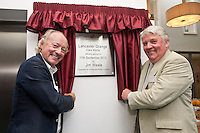Mike Parsons of Barchester Healthcare (left) with Councillor Jim Weale, Chair of Fernwood Parish Council