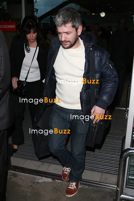 Gr&eacute;goire arrives at Nice airport for the NRJ MUSIC AWARDS 2014.<br /> December 14, 2013. Exclusive photos
