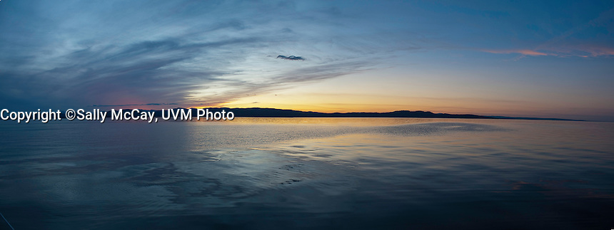 The Burlington, Vermont Waterfront and Lake Champlain. Burlington, Vermont and Lake Champlain