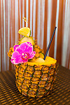 A Mai Tai served in a Pineapple at the Four Seasons Resort Maui at Wailea, Maui, Hawaii, USA