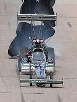 Feb 26, 2017; Chandler, AZ, USA; NHRA top fuel driver Scott Palmer during the Arizona Nationals at Wild Horse Pass Motorsports Park. Mandatory Credit: Mark J. Rebilas-USA TODAY Sports