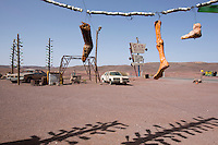 Morocco - Ouarzazate - Located 20 kilometers out of Ouarzazate on the road to Agadir, this prop gas station was used in The Hills Have Eyes, a 2006 American horror movie recounting the ordeals of a family being attacked by a group of nuclear-contaminated mutants. Although set in the New Mexico desert, the movie was entirely shot in Morocco.