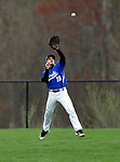 Beacon Falls, CT- 24 April 2017-042417CM05- Crosby's Jariel Richiez keeps his eye on a pop fly during their baseball matchup against Woodland on Monday.    Christopher Massa Republican-American