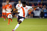 11 December 2015: Syracuse's Chris Nanco (CAN) takes a shot late in the first half. The Clemson University Tigers played the Syracuse University Orange at Sporting Park in Kansas City, Kansas in a 2015 NCAA Division I Men's College Cup Semifinal match.