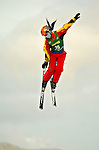 14 January 2005 - Lake Placid, New York, USA - Shanshan Zhao representing China, competes in the FIS World Cup Ladies' Aerial acrobatic competition, ranking 11th for the day, at the MacKenzie-Intervale Ski Jumping Complex, in Lake Placid, NY. ..Mandatory Credit: Ed Wolfstein Photo.