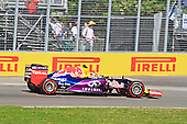 Daniil Kvyat (Russia) car number 26 at the wheel of his Infiniti Red Bull RB11 F1 car at the 3rd practice session of the Grand Prix of Canada