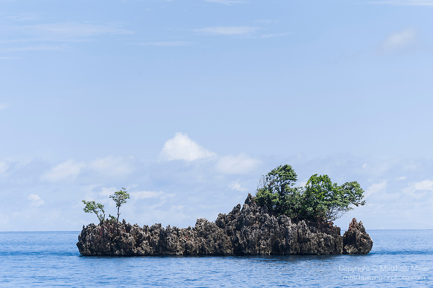 Misool, Raja Ampat, Indonesia; Fiabacet area, Nudi Rock, a rock formation in the shape of a nudibranch