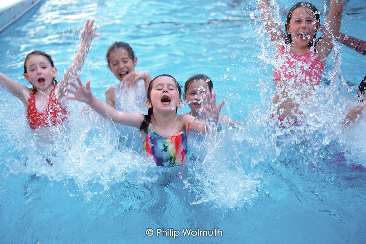 Children Splash In The Swimming Pool At Camden Council 39 S Oasis Sports Centre Holborn London