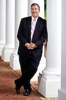 Politics professor Larry Sabato photographed at the University of Virginia in Charlottesville, Va. Photo/Andrew Shurtleff
