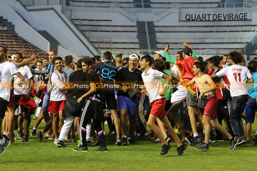 Fans invade the pitch at the final whistle - France Under-20 vs Morocco Under-20 - 2015 Toulon Tournament Final Football at Stade Mayol, Toulon, France - 07/06/15 - MANDATORY CREDIT: Paul Dennis/TGSPHOTO - Self billing applies where appropriate - contact@tgsphoto.co.uk - NO UNPAID USE