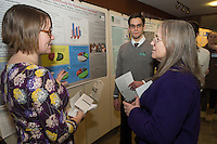 Public Health Poster Session. Class of 2015. Colleen Kerrigan, left, James McAvoy, Cindy Forehand, Ph.D.