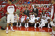 The starting line-up, NC State University vs Princeton at the RBC Center, Raleigh, NC, Wednesday, November 16, 2011. .