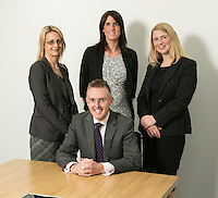 Pictured seated is Scott McKittrick, with from left, Su Garner, Jenny Colver and Melissa Chantrill