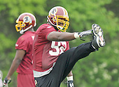 Ashburn, VA - May 2, 2009 -- Defensive tackle Albert Haynesworth (92) participates in the 2009 Washington Redskins mini-camp at Redskins Park in Ashburn Virginia on Saturday, May 2, 2008..Credit: Ron Sachs / CNP