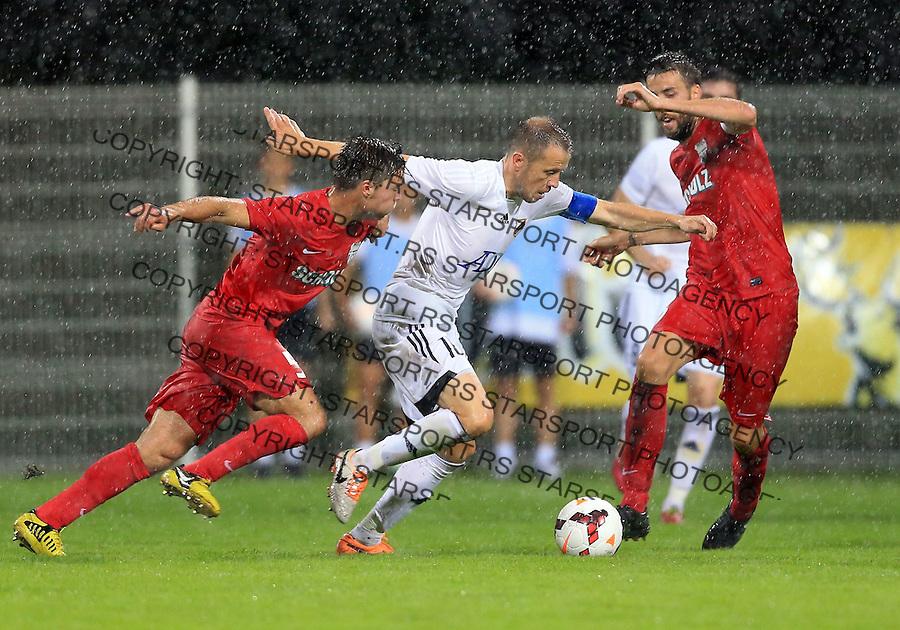 Fudbal Football Soccer<br /> UEFA Europa league-Second qualifying round, First leg<br /> Cukaricki v Grodig Austria<br /> Igor Matic (C)<br /> Beograd, 07.17.2014.<br /> foto: Srdjan Stevanovic/Starsportphoto &copy;